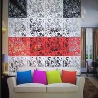 dekorasi pembatas ruangan vintage pvc 1set isi 4buah
