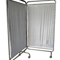 Bedscreen 2 Bidang - Pembatas Ruangan Drumah Sakit - Stainless Steel
