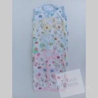 FLUFFY Baju Tanpa Lengan Kancing Depan Bayi Motif - 3-6 Bulan