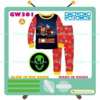 Setelan baju tidur piyama panjang anak laki-laki iron man GW 301-A