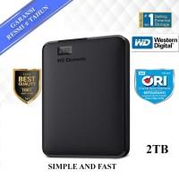 "WD Element Elements 2TB Hitam - HD HDD Hardisk Eksternal External 2.5"""