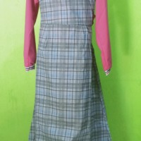 Baju muslim setelan Overall anak perempuan Fila ( 8-10 tahun )
