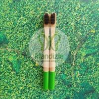 [Premium Kids Green] Sikat Gigi Bambu Anak Child Bamboo Toothbrush
