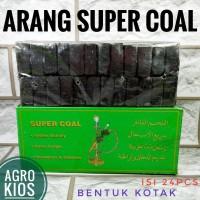 Arang SUPER COAL - areng briket - bara kotak Charcoal Shisha - Shisa -