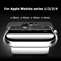 APPLE WATCH TEMPERED GLASS IWATCH SERIES 1 2 3 4 FULL SCREEN BLACK