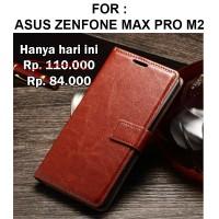 Case Asus Zenfone Max Pro M2 casing dompet leather FLIP COVER WALLET