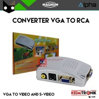 Converter VGA to RCA/ Video/ S-Video/ AV BOX Conversion