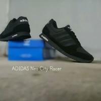 SEPATU SEKOLAH ADIDAS NEO CITY RACER FULL BLACK