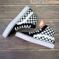 Sepatu Vans Sk8 Motif Catur Kotak Hitam Putih Sneakers Kado Hadiah