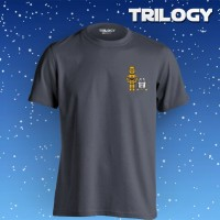 Kaos Premium Brand TRILOGY Star Wars Chibi C3PO & R2D2 Tshirt