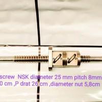 Ball screw diameter 25mm P 50 cm