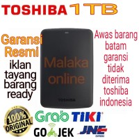 TOSHIBA Canvio Basic 1TB - HDD / HD / HARDISK eksternal toshiba ori