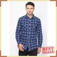 Contempo Men Planel L/S Shirt - Blue