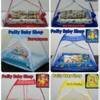Set Kasur Bayi Tenda Kelambu Bantal dan Guling Karakter Baby Bess