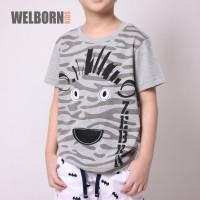 Welborn Kids Kaos Oblong Abu Abu Zebra Anak Laki