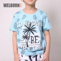 Welborn Kids Kaos Oblong Biru Surfing Anak Laki