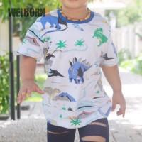 Welborn Kids Kaos Oblong Putih Dinosaur Anak Laki