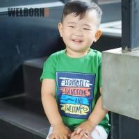 Welborn Kids Kaos Oblong Hijau Kotak 01 Anak Laki
