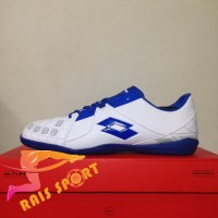 Murah Sepatu Futsal Lotto Squadra IN White Dawn Blue L01040012