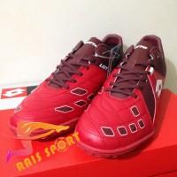 Murah Sepatu Futsal Lotto Squadra IN Dark Red White L01040011