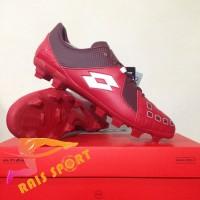 Murah Sepatu Bola Lotto Squadra FG Dark Red White L01010011 Original