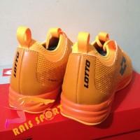 Promo Sepatu Futsal Lotto Spark IN Beat Orange Black L01040004