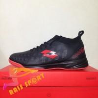 Grosir Sepatu Futsal Lotto Energia IN Black Solar Red L01040009