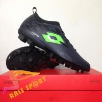 Terlaris Sepatu Bola Lotto Veloce FG Blade Black Green L01010003