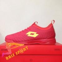 Murah Sepatu Futsal Lotto Spark IN Solar Red Yellow L01040005