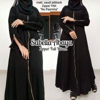 abaya gamis hitam arab jetblack pesta seperti ori ZIPPER POLOS HITAM