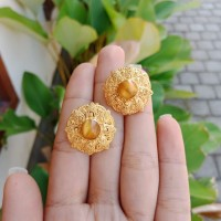 Giwang Clip Alpaka / Anting model clip perhiasan Bali GW01