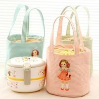 tas bekal kanvas cute doll canvas portable lunch bag bta177