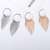 anting fashion circle multilayer tassel earrings jan137