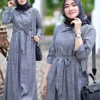 gamis maxi dress maxy baju polos wanita muslim muslimah casual santai