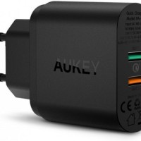 AUKEY PA-T13 - Dual USB Port Wall Desktop Quick Charger with QC3.0