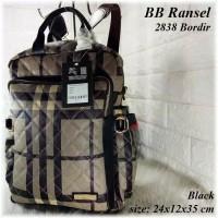 TAS BATAM TAS WANITA IMPORT TAS BURBERRY BB RANSEL 2838 BORDIR BACKPAK