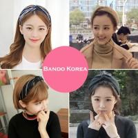 Bando & Ikat Rambut Lady Cross Hair Band Mask Makeup Headband