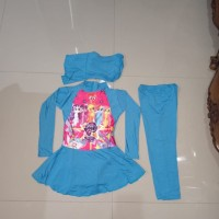 Baju renang muslimah kuda poni anak 2-5 tahun
