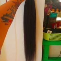rambut sambung 120helai panjang 65cm asli rambut potong manusia smooth