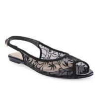 Marelli Sandal Flat Wanita Black - 1234