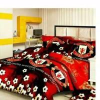 Bedcover set MU ukuran King 180x200 Murah /Bad cover Menchester United