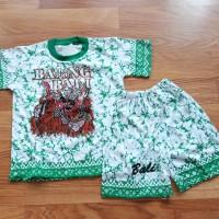 Baju Kaos Setelan Anak Barong Bali Ukuran L 6 - 7 tahun