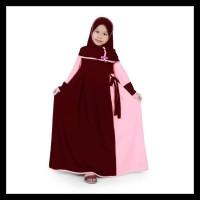 Termurah Bajuyuli - Baju Muslim Anak Perempuan Gamis Jersey Marun