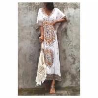 baju pantai bali / dress pantai manila long kaftan bohemian
