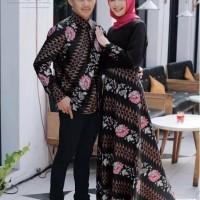 baju couple - Sania Ruffle Batik Couple Ori Ndoro Jowi DNT