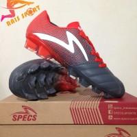Promo Sepatu Bola Specs Equinox FG Dark Granite Red 100821 Original