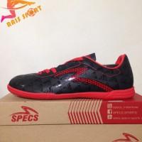 Grosir Sepatu Futsal Specs Quark IN Black Emperor Red 400720