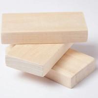 10pcs Unfinished mini wood block balok kayu mini papan jati belanda
