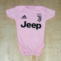 Baju Bola Bayi/Baby Romper/Baby Jumper Juventus Pink