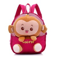 tas ransel anak kids bag monkey - Fuchsia